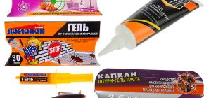 Gel da scarafaggi e sfumature della loro applicazione (Brownie, Trap, Killer, ecc.)