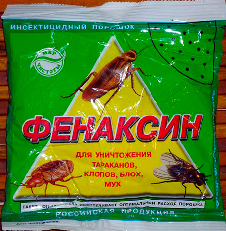 Mezzi insetticidi in polvere da scarafaggi, insetti, mosche e pulci Fenaksin