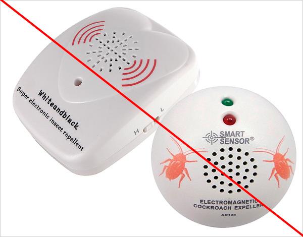 Come mostra la pratica, vari scarer a ultrasuoni e risonanze magnetiche sugli scarafaggi non hanno quasi alcun effetto.