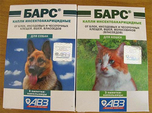 Gocce il leopardo dalle pulci per cani e gatti
