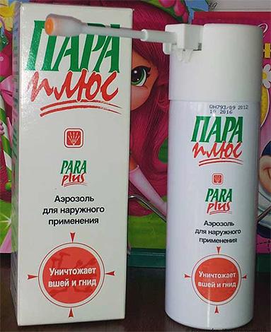 Un altro farmaco per la rimozione dei pidocchi a casa - un prodotto aerosol Pair Plus