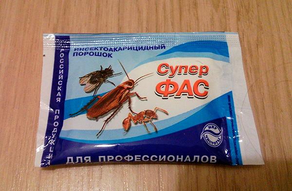 Insektoakaritsidny in polvere Super Fas