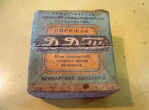 Douste (DDT), ora vietato per l'uso.